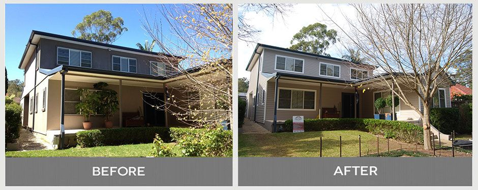 Vinyl Cladding in Normanhurst Home